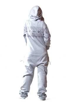 Nordic Grey Onesie Back