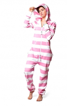 Striped Pink Onesie Front