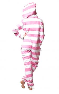 Striped Pink Onesie Back